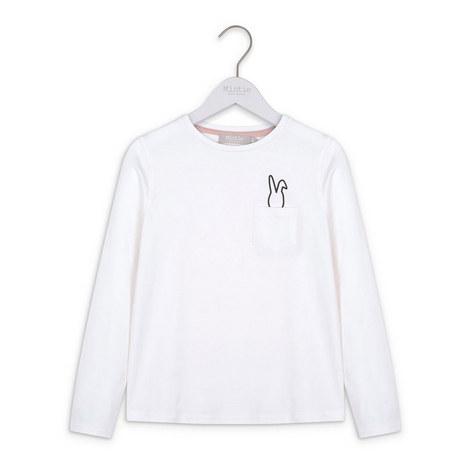 Bunny Print Long Sleeves T-Shirt, ${color}
