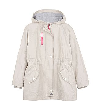 Chalk Stripe Back Parka