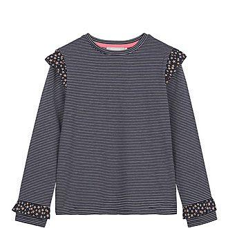 Navy Star & Stripe Ruffle T-Shirt