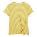 Striped Twisted Hem T-Shirt, ${color}