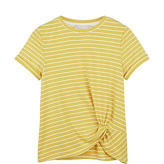 Striped Twisted Hem T-Shirt