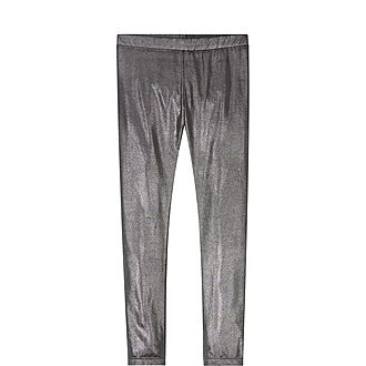 Gunmetal Metallic Leggings