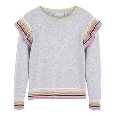 Striped Ruffle Sweater, ${color}