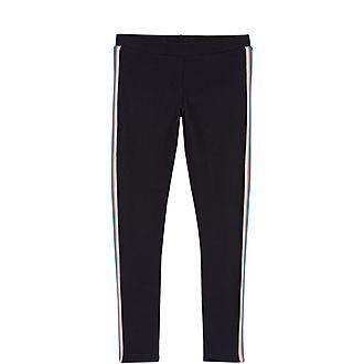 Navy Sporty Stripe Legging