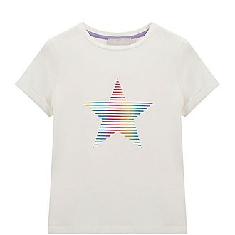 Rainbow Foil Star T-Shirt