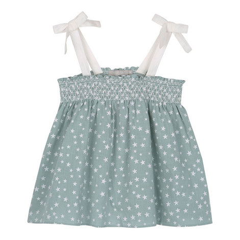 Smocked Star Print Camisole, ${color}