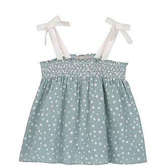 Smocked Star Print Camisole
