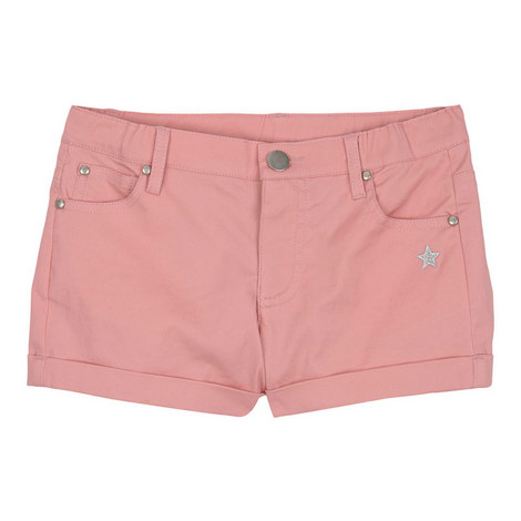 Turn-Up Hem Shorts, ${color}