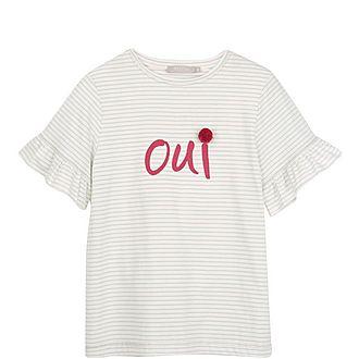 """Striped """"Oui"""" T-Shirt"""