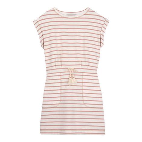 Striped Sweatshirt Dress, ${color}
