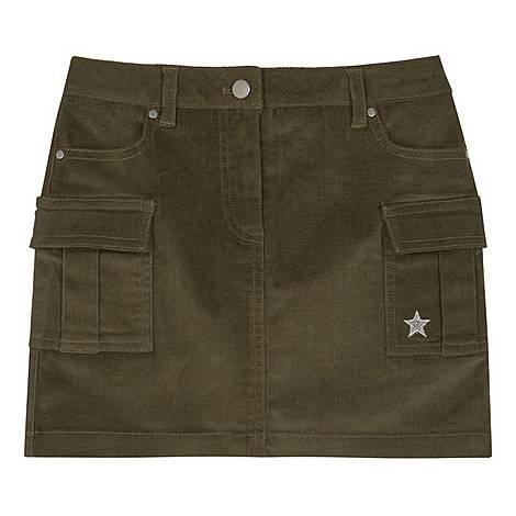 Cord Cargo Pocket Skirt, ${color}