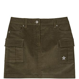 Cord Cargo Pocket Skirt