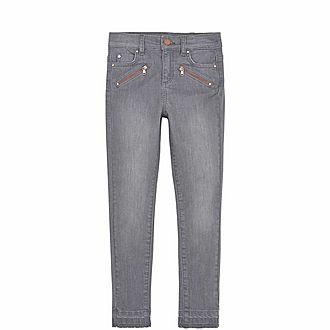Let Down Hem Skinny Jeans