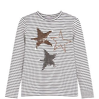 Striped Sequin Star T-Shirt