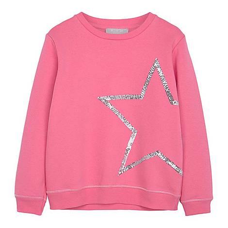 Sequin Star Sweatshirt, ${color}