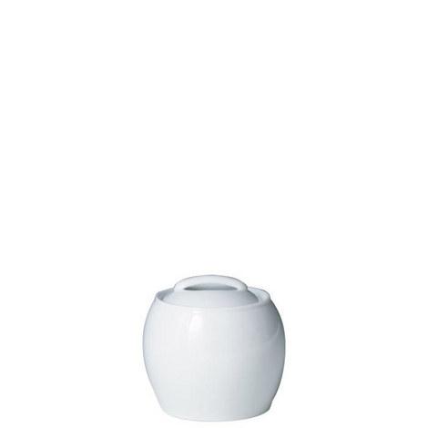 White Covered Sugar Bowl, ${color}