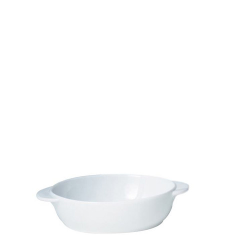 White Small Oval Dish, ${color}
