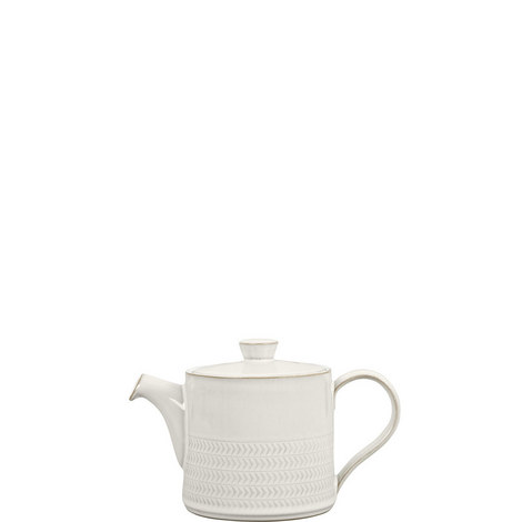 Natural Canvas Textured Teapot, ${color}