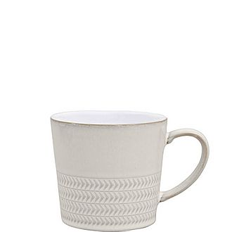 Natural Canvas Textured Mug Large