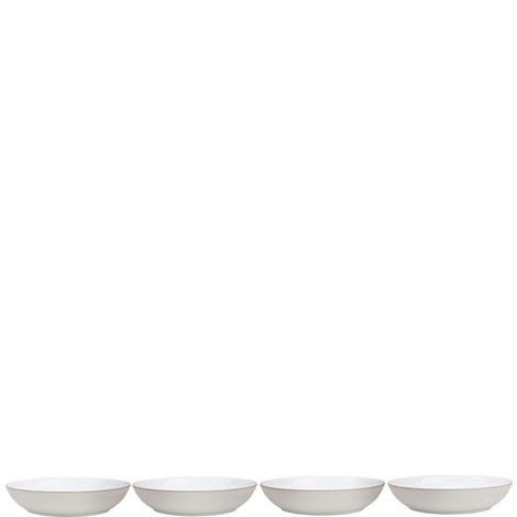 Natural Canvas set of 4 Pasta Bowls, ${color}