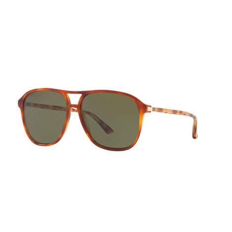 Square Sunglasses GG0016S 58, ${color}