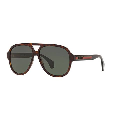 Havana Pilot Sunglasses GG0463S, ${color}