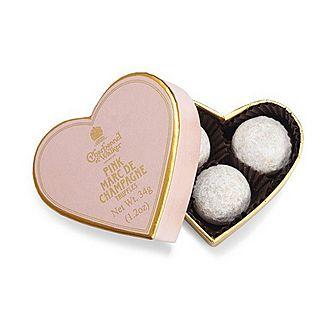 Pink Marc De Champagne Truffle Heart 34g