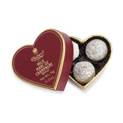 Mini Marc De Champagne Truffles Heart Box, ${color}