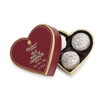 Red Mini Heart With Milk Marc De Champagne Truffles 34g