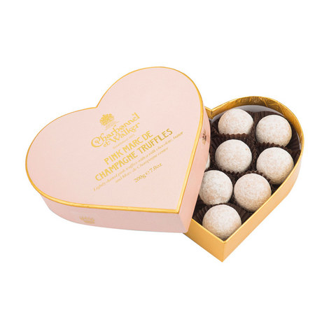 Pink Marc De Champagne Truffle Heart Box 200g, ${color}