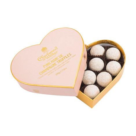 Pink Marc De Champagne Truffle Heart Box 200g, ${color}