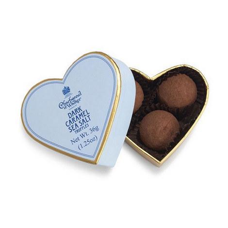 Mini Dark Sea Salt Caramel Truffles Heart Box, ${color}