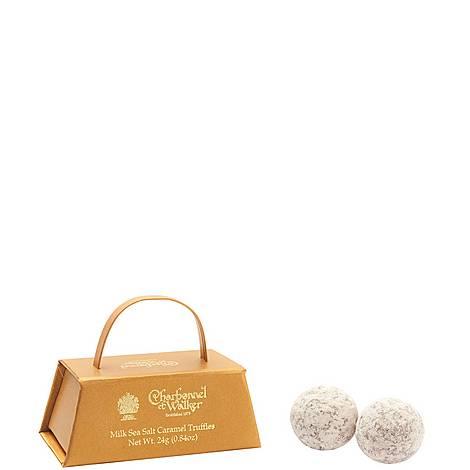 Mini Milk Sea Salt Caramel Truffles 24g, ${color}
