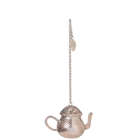 Silver Plated Teapot Infuser, ${color}