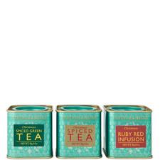 Set of 3 Mini Christmas Spiced Tea Tins 25g