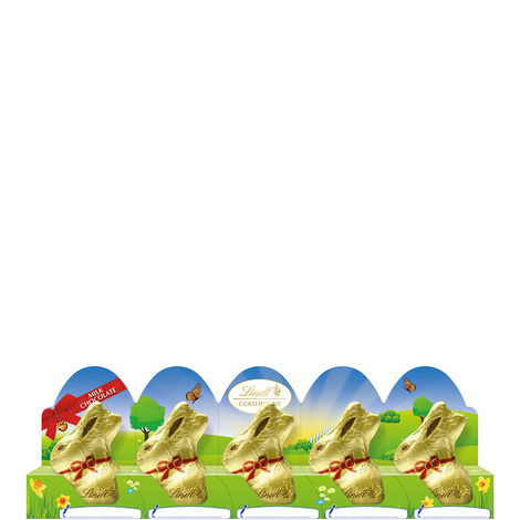 Gold Easter Bunny Milk Chocolate Tray, ${color}