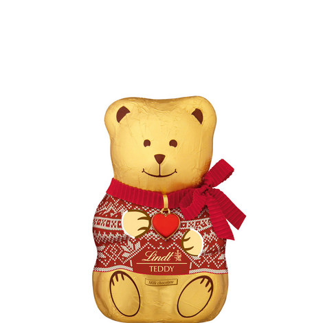 Festive Chocolate Teddy Bear 200g, ${color}
