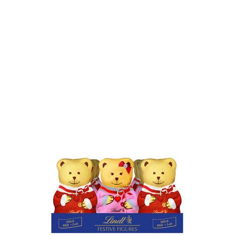 Milk Chocolate Christmas Teddies 100g, ${color}