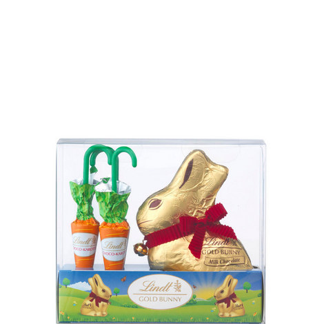 Golden Easter Bunny and Carrots 140g, ${color}