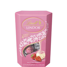 Lindor Strawberry & Cream Chocolate Truffles 200g