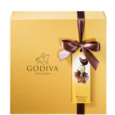 Gold Rigid Box 24 Pieces, ${color}