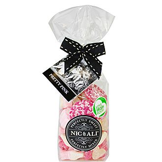 Pretty Pink Bagged Sweets 160g