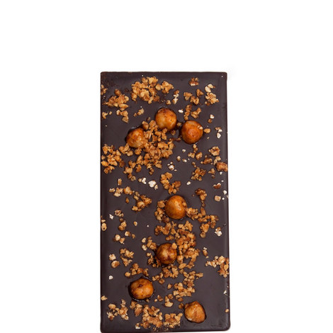 Spiced Hazelnuts and Honey Dark Chocolate Bar 80g, ${color}