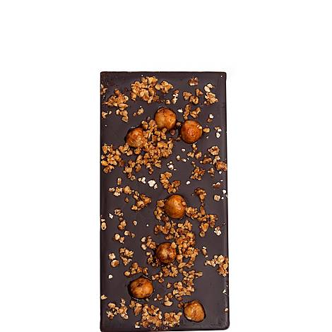 Spiced Hazelnuts and Honey Dark Chocolate Bar 80g, ${color}