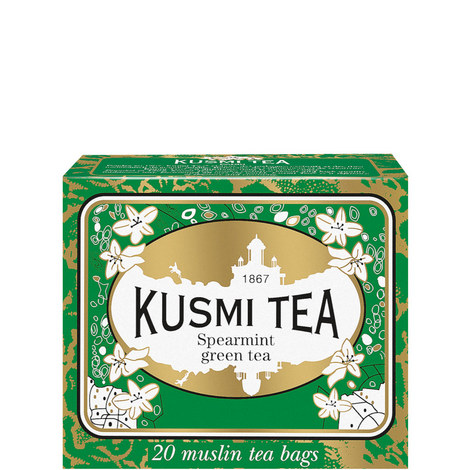 Spearmint Green Tea - 20 Muslin Tea Bags, ${color}