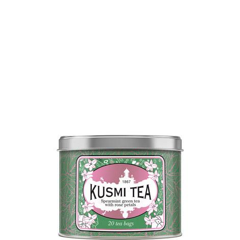 Spearmint Rose Green Tea 20 Muslin Tea Bags, ${color}