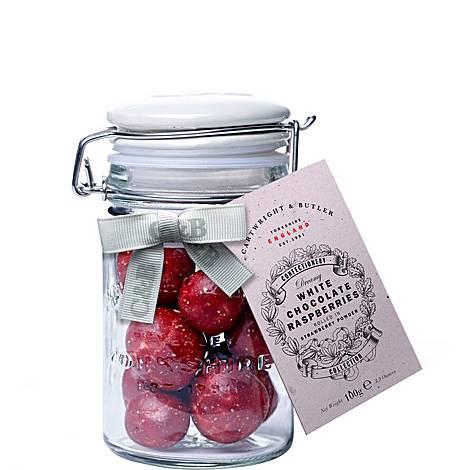 White Chocolate Raspberries 100g, ${color}