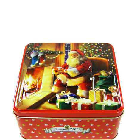 Fireside Santa Biscuit Tin 300g, ${color}