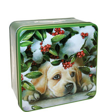 Puppy Holly Biscuit Tin 300g