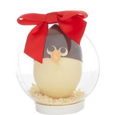 Chocolate Penguin Snow Globe